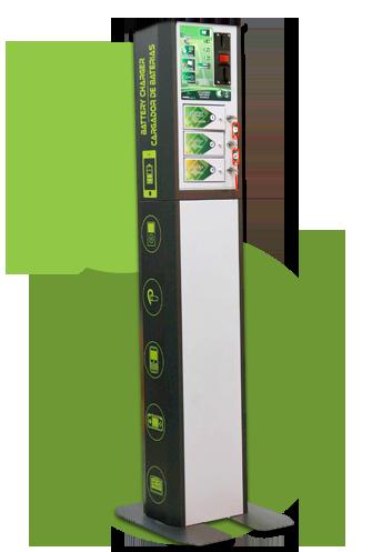 Máquina de recarga de baterías de móvil